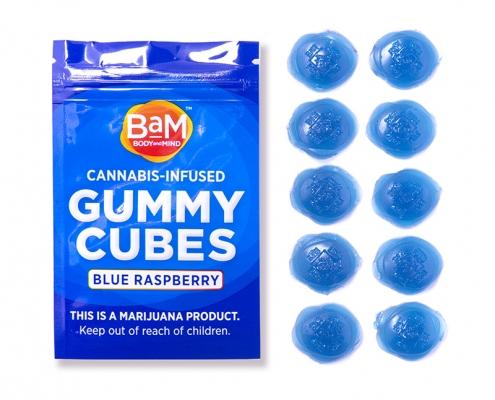 BaM Blue Raspberry Gummy Cubes