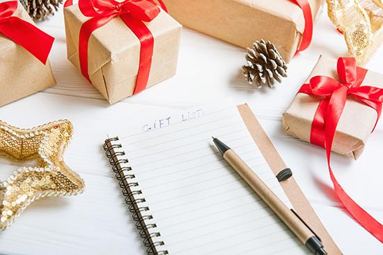 2 make a holiday list