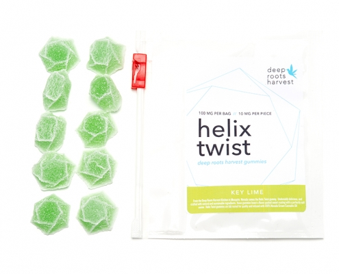 Deep Roots Harvest Helix Twist Key Lime Gummies