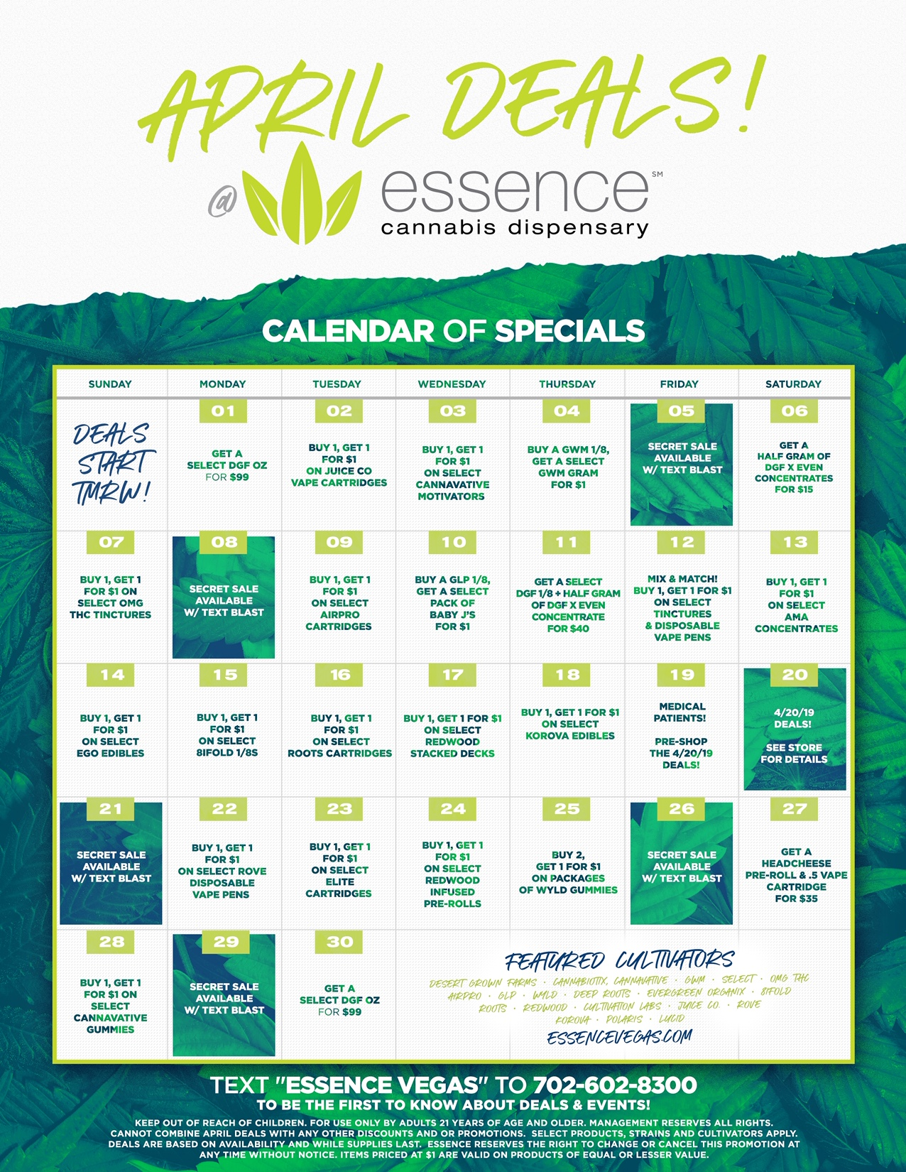 essence april deals